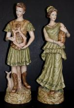 Pair of Austrian Porcelain Godesses
