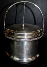 Sterling Silver on Copper Ice Bucket