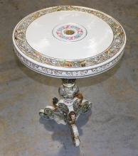 Italian Capodimonte Reticulated Porcelain Table Top