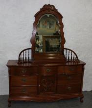 Modern Oak Reproduction Dresser