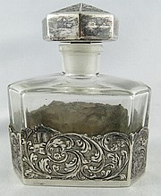 800 Silver & Glass Perfume Bottle