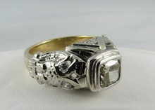 14Kt YG & WG 1.36ct Diamond Ring