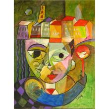 Benny Narkis (born 1946) Oil on Canvas,