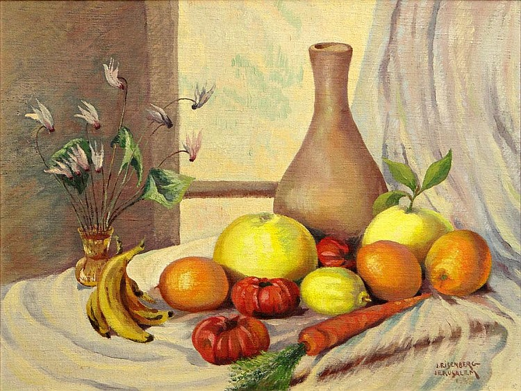 Jacob Eisenberg (1897-1962) Oil on Board