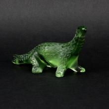 Lalique Frosted Crystal Salamander Figurine.