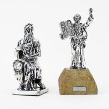 Two (2) Israeli Sterling Silver Religious Figurines.