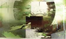 Catherine de Saugy, Swiss (20th-21st Century) Abstract on Plexiglas.