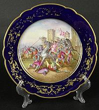Antique Sevres Hand Painted Porcelain Plate