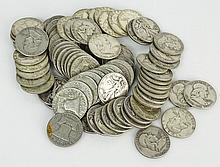 Lot of Eighty (80) Silver Liberty Half Dollars Includes 20-1952, 20-1958, 20-1957, 20-1943. Approx. Weight 32.08 Troy Ounces. These Coins ARE NOT Professionally Graded, We DO NOT Grade Coins, Please View Photos and/or Information to Make your Own