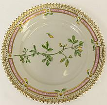 Royal Copenhagen Flora Danica Bread Plate. Marked and Numbered 20/3552. Good Condition or Better. Measures 5-5/8 Inches Diameter. Shipping $24.00