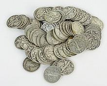 Lot of Eighty (80) Silver Liberty Half Dollars Includes 20-1943, 20-1945, 20-1941, 20-1953. Approx. Weight 31.86 Troy Ounces. These Coins ARE NOT Professionally Graded, We DO NOT Grade Coins, Please View Photos and/or Information to Make your Own