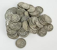 Lot of Eighty (80) Silver Liberty Half Dollars - 1943. Approx. Weight 31.78 Troy Ounces. These Coins ARE NOT Professionally Graded, We DO NOT Grade Coins, Please View Photos and/or Information to Make your Own Value Judgment as to the Condition of