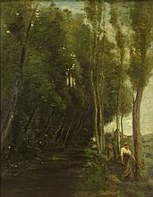attributed to: Jean-Baptiste-Camille Corot, French (1796-1875) Oil on Canvas