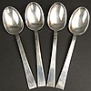 Four (4) International Sterling Tablespoon/Serving Spoons in the