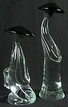 Two (2) Murano Glass Chinese Figures. Signed R. Amatro. Numbered 32/100 and 22/100. Very Good Condition. Tallest Measures 14-1/2 Inches Tall by 4-1/4 Inches Wide. The Other Measures 10-3/4 Inches Tall by 5-1/4 Inches Wide. Shipping $55.00