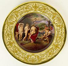 Early 20th Century Hand Painted KPM/Dresden Porcelain Plate.