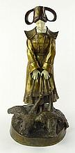 Louis Sosson, French. Bronze and Ivory Figurine