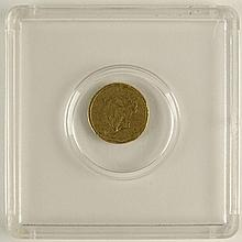 1852 One (1) Dollar Gold Coin, Type 1.