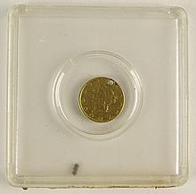 1849 One (1) Dollar Gold Coin, Type 1. Drilled