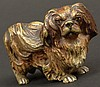 Early 20th Century Vienna Bronze Pekingese Dog Figure. Signed Austria. Very Good Condition. Measures 1-3/8 Inches Tall and 2-1/8 Inches Long. Shipping $28.00