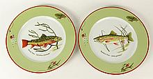 Pair of Tiffany & Co, Tiffany Trout Plates. Signed Appropriately. Light Wear to Edges or in Good Condition. Measures 11 Inches. Shipping $55.00