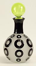 Modern Art Glass Large Decanter. Etched Signature on Bottom. Limited Edition. Good Condition. Measures 15 Inches Tall. Shipping $135.00