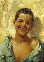 Antonio Vallone, Italian (20th century) oil on canvas board, portrait of young boy. Signed lower left. Good condition or better. Measures 16 inches tall and 12 inches wide, frame measures 18-1/2 inches tall and 14-5/8 inches wide. Shipping $65.00