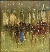 attributed to: Lesser Ury, German (1861-1931) Oil on Canvas