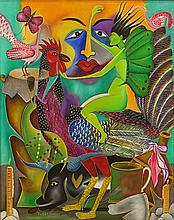 Roger Francois, Haitian (20th C) Acrylic on Canvas