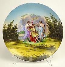 Antique Victoria Austria Porcelain Plate With Classical Transferred Motif. Signed With Backstamp. Light wear or in Good Condition. Measures 10 Inches Diameter. Shipping $45.00