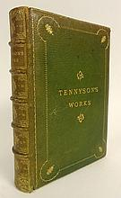 Antique Book The Works of Alfred Lord Tennyson Poet Laureate. London Macmillan & Co. Ltd., 1886. Hardcover. Book Condition: Good. 640 pages. Printed by R. & R. Clark, Edinburgh. Green Leather boards with gilt lettering to spine & Cover. Gold edges