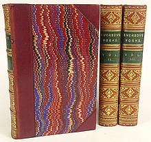 Antique Books The Works by Ralph Waldo Emerson, 1892 in Three (3) Volumes. Hardback. Published London: George Bell & Sons, York St., Covent Garden, and New York. His Essays, Lectures, Poems, and Orations. Marked Bound by Mudie, Bohn's Standard