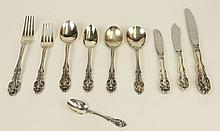 Beautiful One Hundred Forty-Five (145) Piece Gorham Sterling Silver