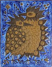 Mid-Century Royal Copenhagen Glazed Terracotta Relief Plaque