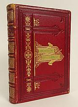 Antique Book - Henry Wadsworth Longfellow, The Complete Poetical Works of: with Prefatory notice. 1895 Six Engraving on Steel. Gall & Inglis, Edinberg: Bernard Terrace, London: 25 Paternoster Sq. Probably 1895, Not Marked as Such. 700 Pages. Red