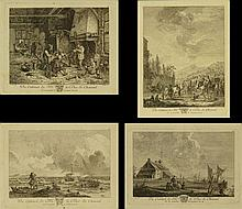 Set of Four (4) 18th Century French Engravings