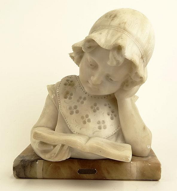 Mario Viti, Italian Circa 1919 Carved Alabaster Sculpture