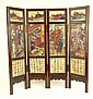 20th Century Four (4) Panel Carved and Painted Soapstone Chinese Screen with Poems. Signed. Cracks to Soapstone or else Good Condition. Measures 28-1/4 Inches Tall, 28-1/4 Inches Wide. Quite Heavy. Shipping $126.00