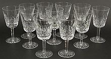 Eleven (11) Waterford Cut Crystal Water Glasses in the
