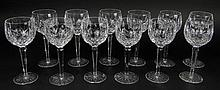 Twelve (12) Waterford Cut Crystal Wine Hock Glasses in the