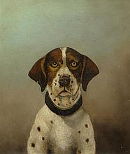 Early 20th Century Probably American Oil on Canvas, Dog Portrait. Unsigned. Minor Tear to Canvas, Very Minor Flakes to Paint Otherwise Good Condition. Measures 12 Inches Tall and 10 Inches Wide, Frame Measures 14-1/2 Inches Tall and 12-1/2 Inches