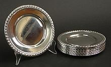 Twelve (12) Mid 20th Century American Sterling Silver Bread Plates. Each Signed Sterling. Good Condition. No Monogram. Measures 6-3/8 Inches Diameter. Silver Weight 41.104 Troy Ounces. Shipping $35.00