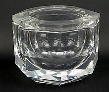 Vintage Octagonal Lucite Ice Bucket with Swing Top. Unsigned. Surface Scratches and Crazing Otherwise Good Condition. Measures 8-1/4 Inches Tall and 9-1/2 Inches Wide. Shipping $48.00