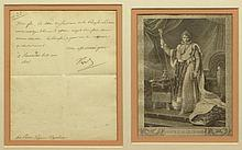 Napoléon Bonaparte French (1769-1821) Letter Signed Napoleon to: Eugene de Beauharnais was the stepson of Napoleon Bonaparte. He commanded the Italian army and served as viceroy of Italy under his stepfather, and he is widely considered the most