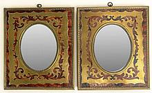 Pair of Vintage Italian Boulle Style Brass and Faux Tortoise Shell Small Mirror Frames. Unsigned. Good Condition or Better. Frames Measures 5-5/8 Inches Tall and 4-3/4 Inches Wide. Shipping $32.00