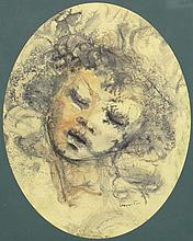 Leonor Fini (1907-1996) Watercolor, Gouache and Ink on Paper