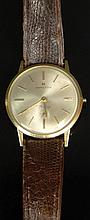 Man's Vintage Hamilton 14 Karat Yellow Gold Watch. Signed.