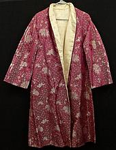 Lady's Vintage Chinese Silk Coat with Woven Peony Design. Unsigned. Good Condition. Small Size. Shipping $38.00