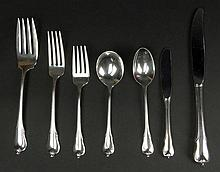 Fifty Three (53) Piece Wallace Sterling Silver Partial Flatware Service in the