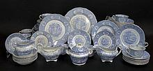 Ninety Eight (98) Piece Assembled Set of 19th Century English Ridgway Ironstone in the